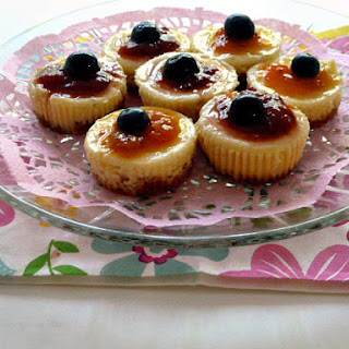 Mini Baked Cheesecakes with Gina's Jam.