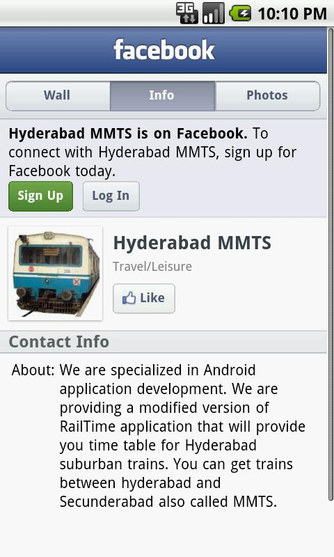Hyderabad Suburban trains - screenshot