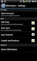 Screenshot of GDriveSync