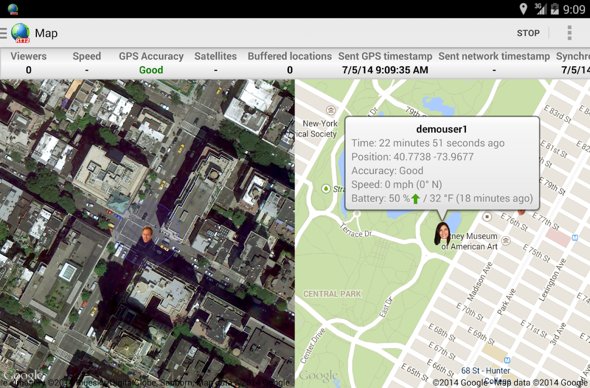 Real-Time GPS Tracker 2 screenshots