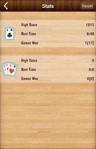 Solitaire classic card game Screenshot