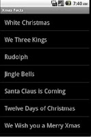 Screenshot of Xmas Facts, Songs, Jokes