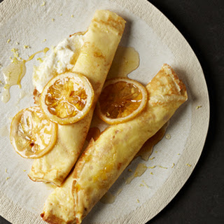 Lemon Crepes With Sweetened Ricotta