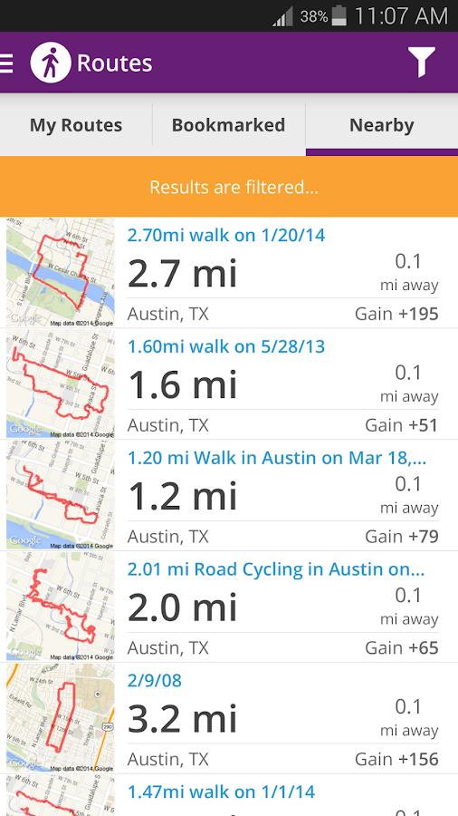 Map My Walk+ GPS Pedometer - screenshot