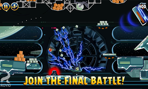 Screenshots of Angry Birds Star Wars for iPhone