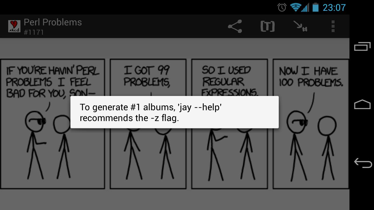 xkcd - simple comic viewer- screenshot