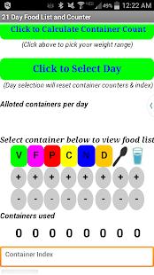 21 Day Food List