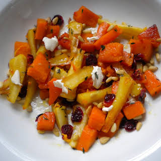 Rustic Root Vegetable Salad with Citrus and Thyme.