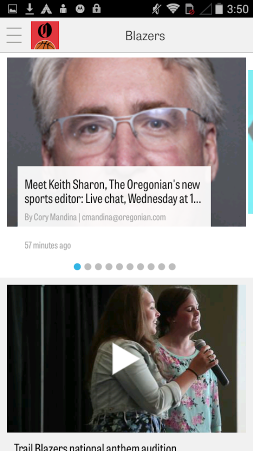 OregonLive: Blazers News- screenshot