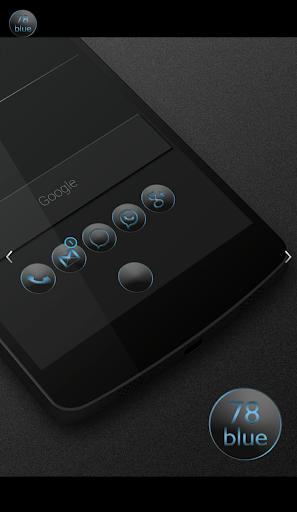 78blue icons - Nova Apex Holo  screenshots 1