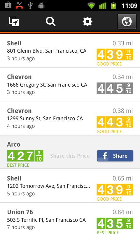 Gas Guru: Cheap gas prices- screenshot
