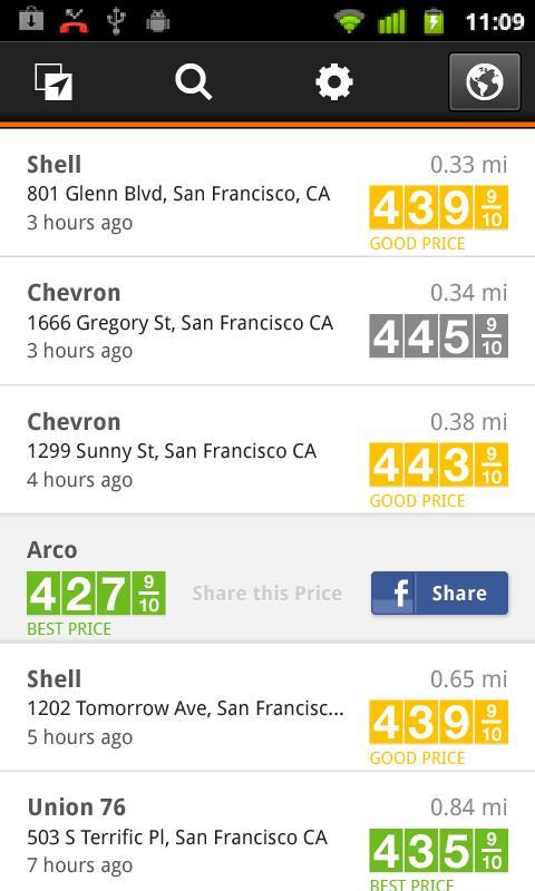 Gas Guru: Cheap gas prices - screenshot