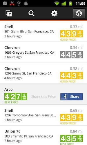 1 Gas Guru: Cheap gas prices App screenshot
