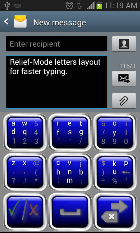 Keyboard-Relief 3.1- screenshot