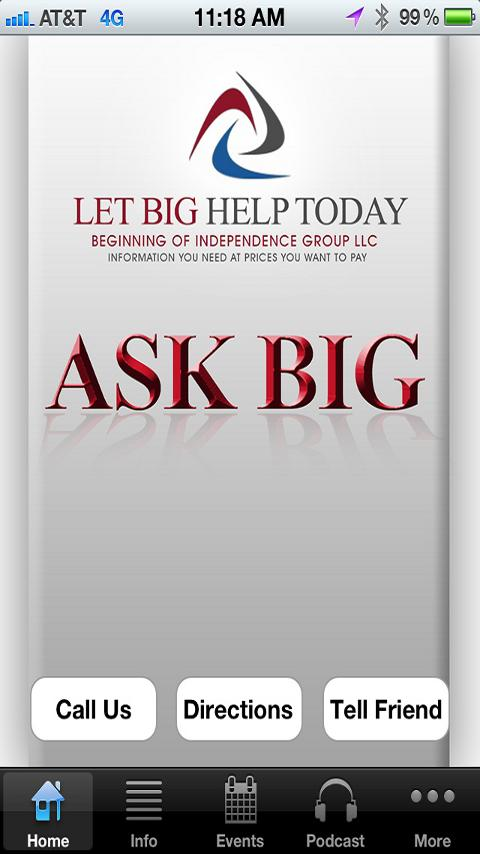 Ask BIG - screenshot