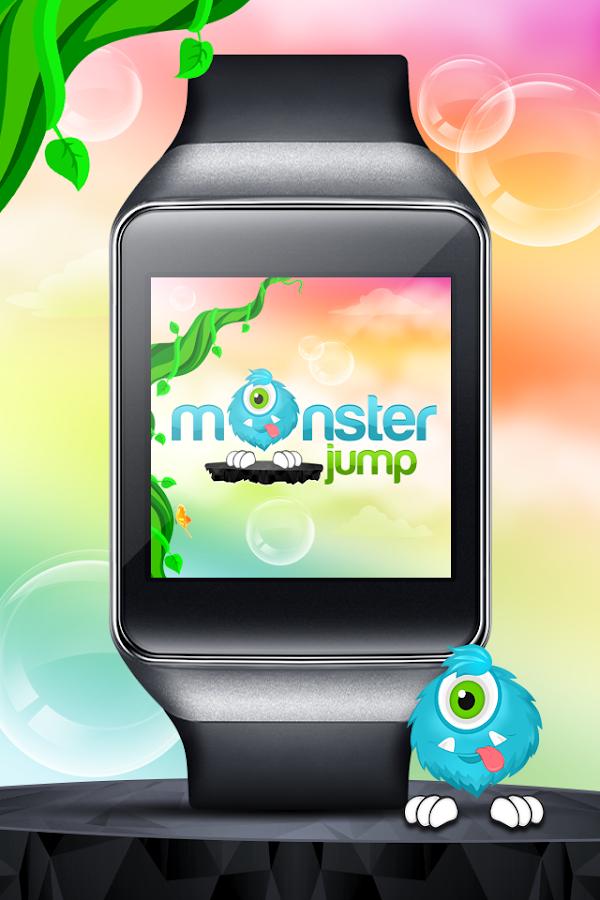 Monster Jump - Android Wear - screenshot