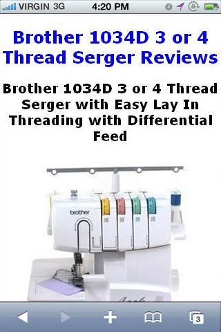 Thread Serger 1034D Reviews
