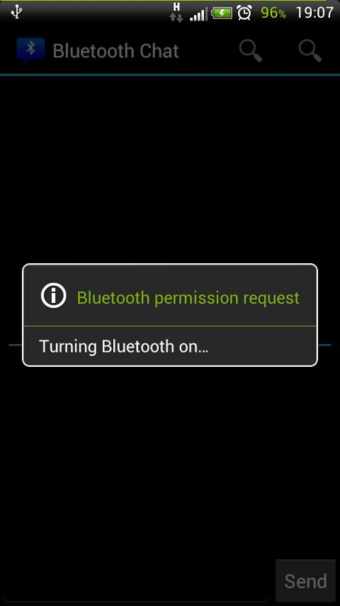 Bluetooth Chat - screenshot