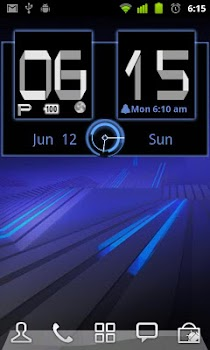 Honeycomb Weather Clock Widget