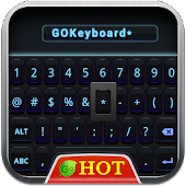 GO Keyboard Black Blue 2014