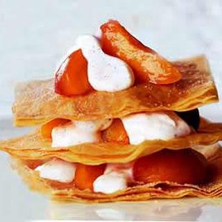 Apricot Phyllo Napoleons.