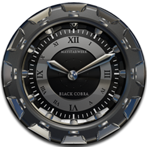 Clock Widget Black Cobra LOGO-APP點子