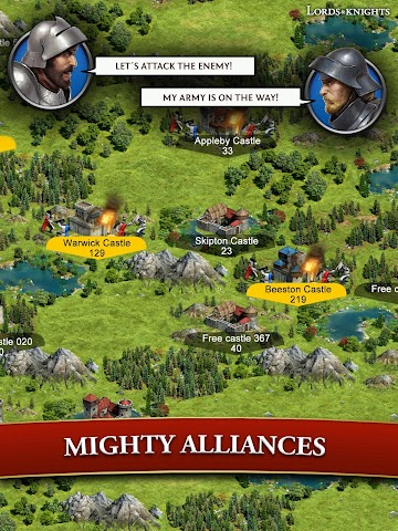 android Lords & Knights - Strategy MMO Screenshot 2