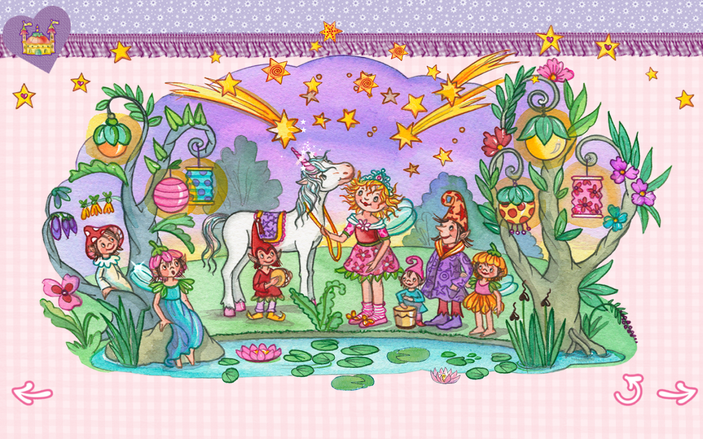 Princess lillifee coloring pages - Prinzessin Lillifee Einhorn Screenshot