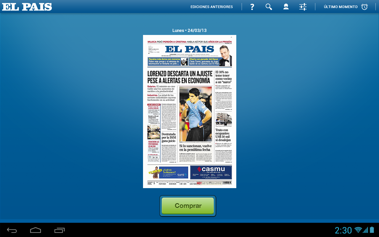 El País Epaper- screenshot