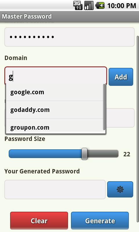Smart Password Generator- screenshot