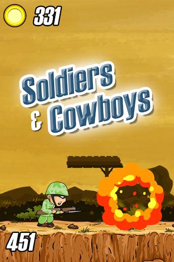 士兵与牛仔对战游戏