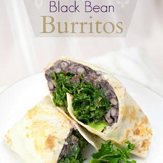 Miso Kale & Black Bean Burritos