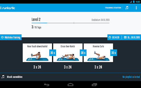 Runtastic Six Pack Workout & Bauchmuskeltraining Screenshot
