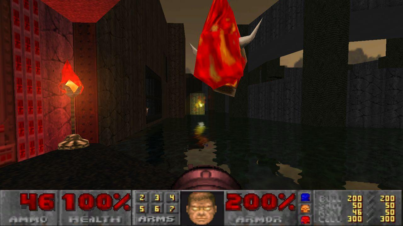 Doom GLES Tech Demo - screenshot
