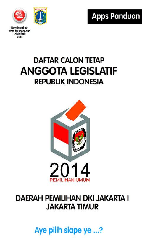 Caleg DKI 1 Pemilu 2014- screenshot