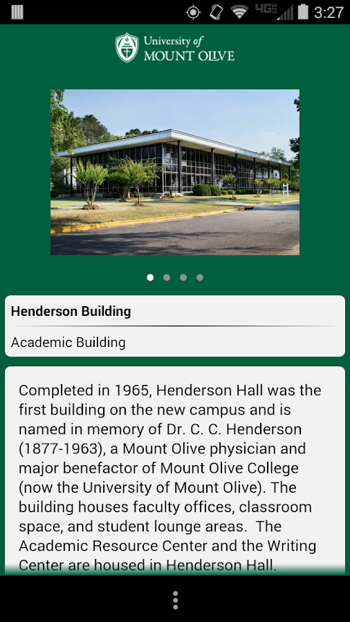University of Mount Olive Tour- screenshot
