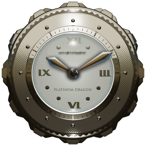 Dragon Clock Widget platinum