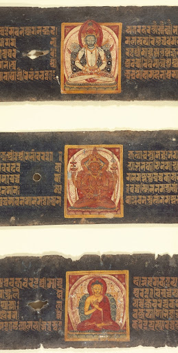 Buddha Shakyamuni (bottom), Folio from a Paramartha Namasangiti (Absolute Truth of the Singing Together of the Name)
