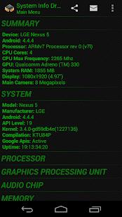 System Info Droid- screenshot thumbnail
