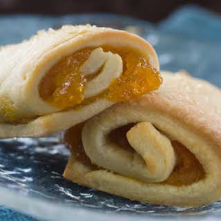 Gluten Free Apricot Cream Cheese Roll Ups.