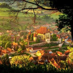 my Romania by Nicu Hoandra - City,  Street & Park  Vistas ( hill, castle, villages, spring, colours )