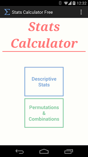 Stats Calculator Free