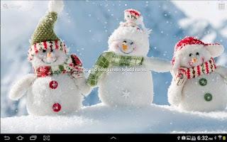 Screenshot of Snowy Live Wallpaper HD