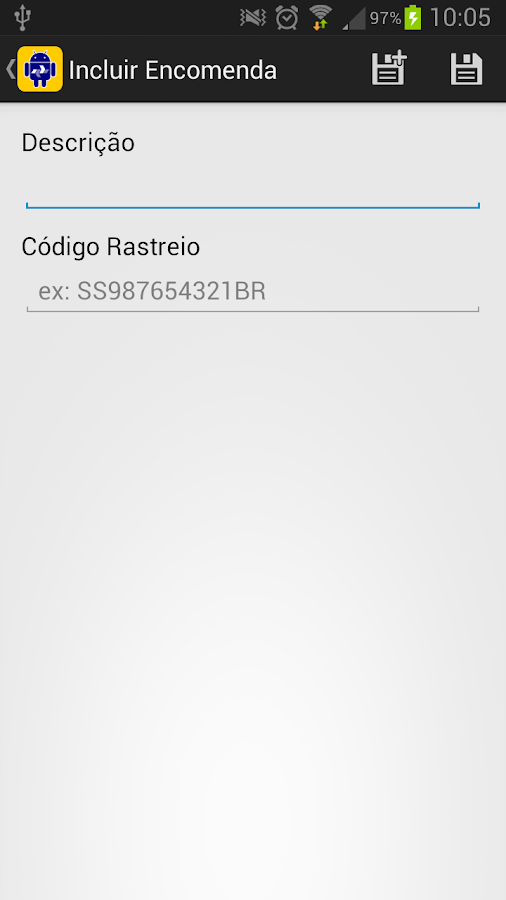 Rastreio Correios - screenshot