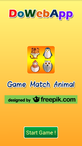 Open card matching the animals