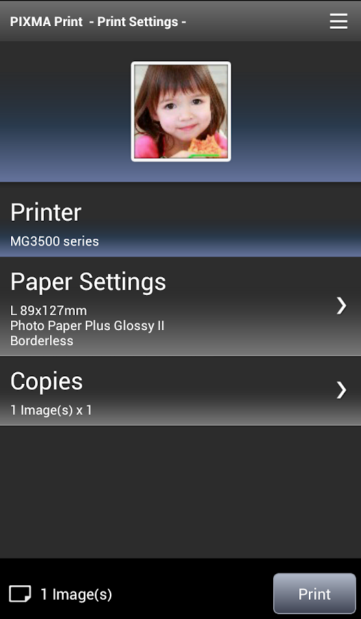 PIXMA Printing Solutions - screenshot