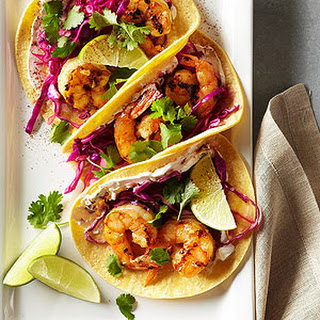 Shrimp Tacos with Lime Slaw