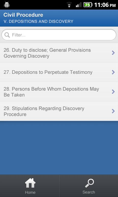 TEST APP - OBJECTION LIST - screenshot