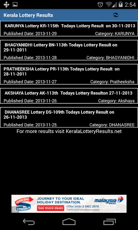 Kerala Lottery Results – (Android Apps) — AppAgg