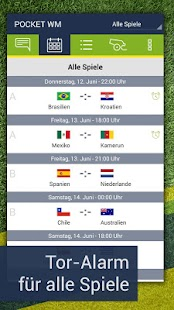 Pocket WM 2014 – Fussball live- screenshot thumbnail